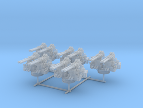 1/192 USN 40mm Quad Bofors Mount Set x5 in Smooth Fine Detail Plastic