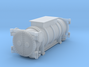 Power unit flat car load N scale in Smooth Fine Detail Plastic