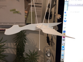 Flying Dragon in White Natural Versatile Plastic