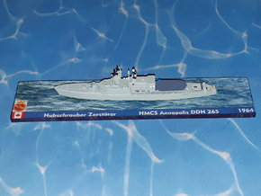 HMCS DDH 265 Annapolis 1964 1/1250 in Smoothest Fine Detail Plastic