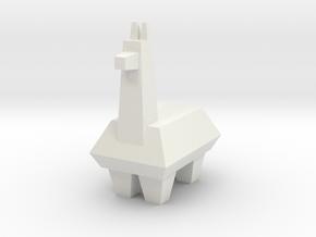 Llama in White Natural Versatile Plastic
