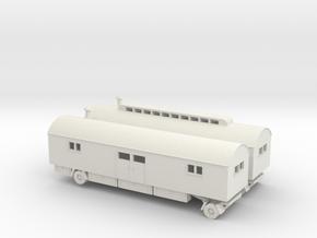 1/120 Wohnwagen Luftwaffe, Zirkuswagen in White Natural Versatile Plastic