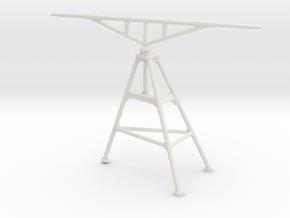 1/96 IJN Yamato Tripod aerial mast 15.5cm turret in White Natural Versatile Plastic
