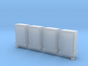 1:100 4x High Voltage Cabinets in Smooth Fine Detail Plastic