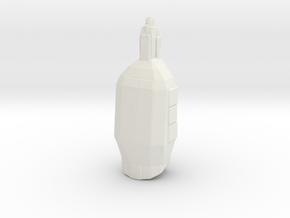 Star galleon transport in White Natural Versatile Plastic