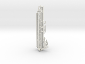 1/50th Well Drill Tower in White Natural Versatile Plastic