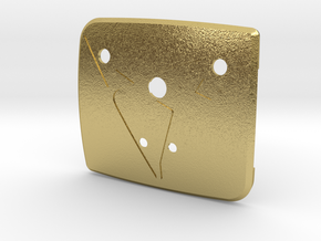 """Pre-Facelift Cupra Front """"S"""" Badge - Back Part in Natural Brass"""