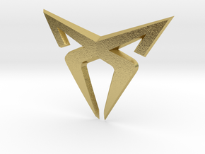 """Pre-Facelift Cupra Front """"S"""" Badge - Front Part in Natural Brass"""