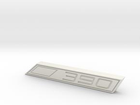 Cupra 390 Text Badge in White Natural Versatile Plastic