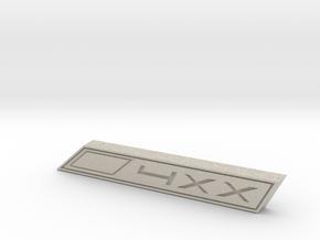 Cupra 4XX Text Badge in Natural Sandstone