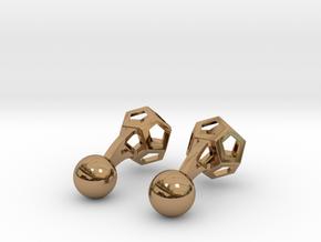 Dodecufflinks in Polished Brass