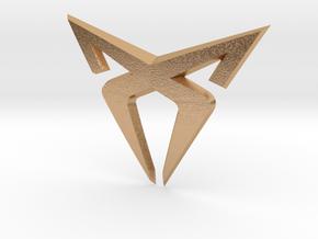 "Facelift Cupra Front ""S"" Badge - Logo Part in Natural Bronze"