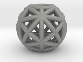 torus_pearl_type6_normal in Gray PA12: Small