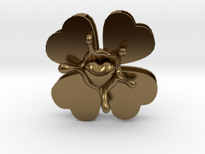 LuckyLoveSplash in Polished Bronze