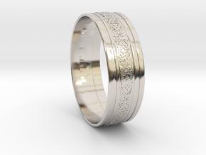Wedding Gold Ring KTWR01 in Rhodium Plated Brass