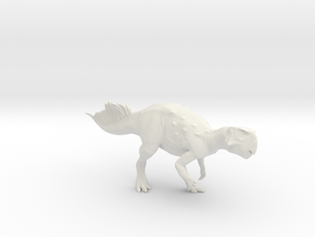 Psittacosaurus walking 1:12 scale model in White Natural Versatile Plastic