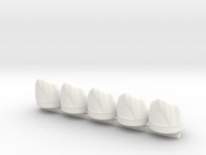 5 x British Grenadier in White Processed Versatile Plastic