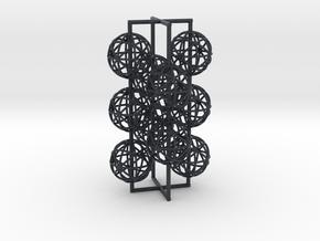 torus_pearl_loop_type8_ultrathin in Black PA12