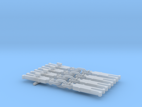 NEM OO Type 3 Couplings - Strait3  Link x4 in Smooth Fine Detail Plastic