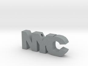 NYC in Polished Metallic Plastic