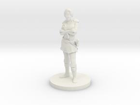 FemaleKnight_ArmsCrossed_CircleBase in White Natural Versatile Plastic