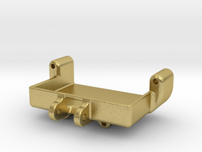 Axial SCX24 Servo mount for Savox SH-0257mg in Natural Brass