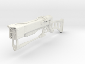 1:6 AER9 Laser Rifle - Fallout in White Natural Versatile Plastic