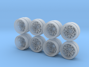 7K Nika Hot Wheels Rims in Smoothest Fine Detail Plastic