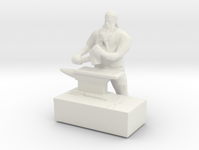 HO Scale Big Man with Anvil in White Natural Versatile Plastic