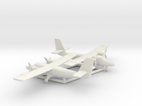 de Havilland Canada DHC-6 Twin Otter in White Natural Versatile Plastic: 6mm