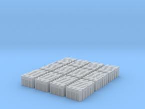 1/72 MILITARY FOOTLOCKER STORAGE BOX 12 PACK in Smooth Fine Detail Plastic