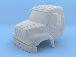 Freightliner 2 Door Closed Windows With Bumper 1-8 in Smoothest Fine Detail Plastic