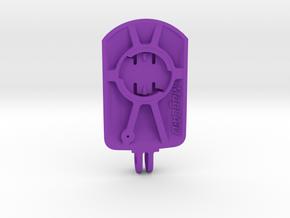 Wahoo Elemnt Roam BMC Mount - Short in Purple Processed Versatile Plastic