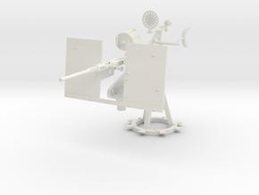 1/6 USN 20mm Single Oerlikon Mk10 shielded KIT in White Natural Versatile Plastic