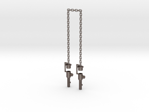Chained Weapons--LONG Rev1 in Polished Bronzed-Silver Steel