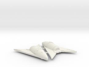 3125 Scale Hydran Hunter Frigates (2) CVN in White Natural Versatile Plastic