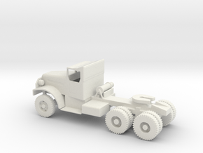 1/100 Scale White 6x6 Tractor in White Natural Versatile Plastic