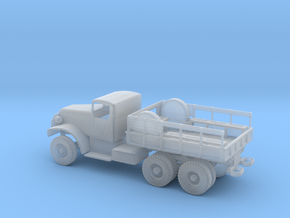 1/100 Scale White 6-ton 6x6 Cargo Truck Hardtop in Smooth Fine Detail Plastic