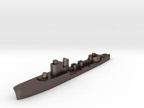 Italian Sirio torpedo boat 1:2400 WW2 in Polished Bronzed-Silver Steel