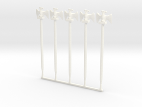 5 x French Eagle in White Processed Versatile Plastic