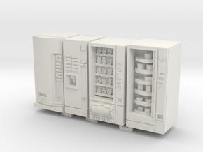 1:64 Vending Machines in White Natural Versatile Plastic