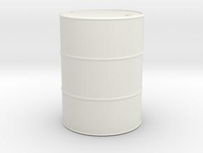 1/13.3 (45mm) scale Oil Barrel in White Natural Versatile Plastic