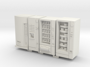 1:72 Vending Machines in White Natural Versatile Plastic