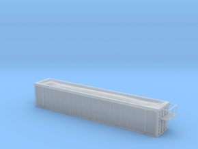 Trash Gondola 48foot - Nscale in Smooth Fine Detail Plastic