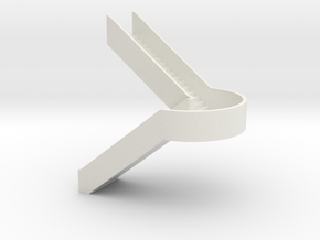 N Station Stairs U H40mm in White Natural Versatile Plastic