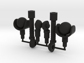 Gyrotron Arms in Black Natural Versatile Plastic: Large