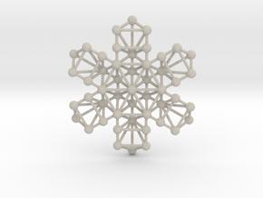 Snowflake of Life in Natural Sandstone