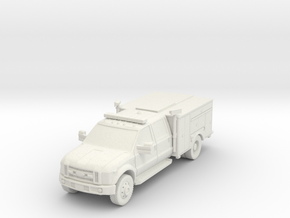 ~1/87 HO Ford F-450 Light Rescue in White Natural Versatile Plastic