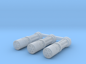 Gatling Barrel - Shrouded   x3 in Smooth Fine Detail Plastic