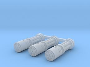 Gatling Barrel - Shrouded   x3 in Smooth Fine Detail Plastic